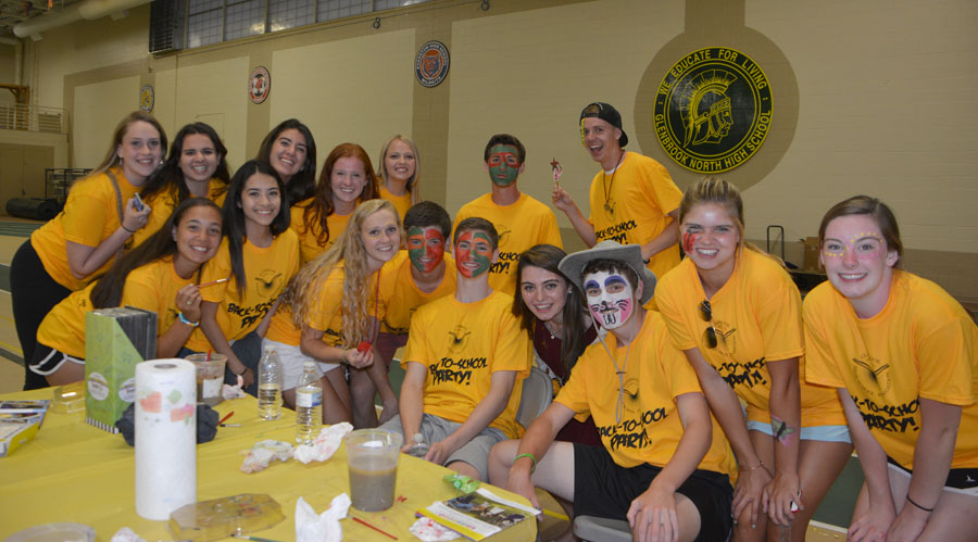 Peer Mentors at last year's Back-to-School party