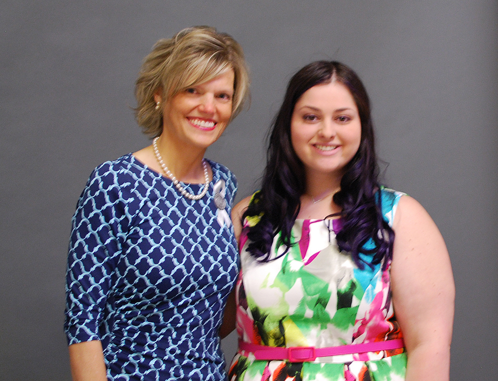 Foundation Scholarship recipient Simone Shuman pictured with trustee Kristine Schwandner